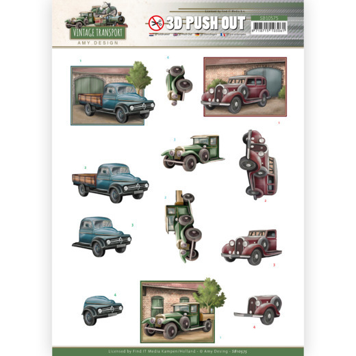 3D Push Out - Amy Design - Vintage Transport - Truck