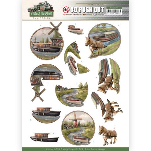 3D Push Out - Amy Design - Vintage Transport - Boat