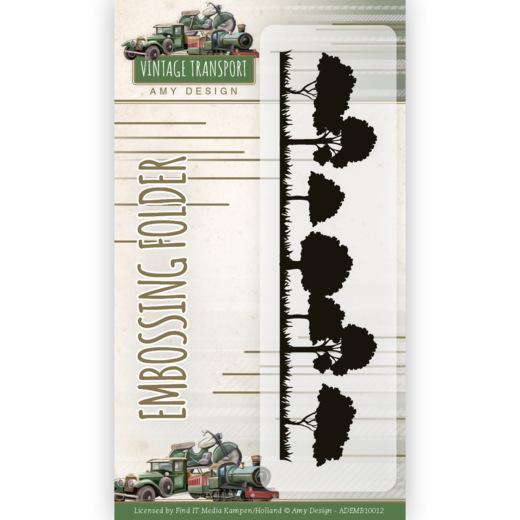 Embossing Folder - Amy Design - Vintage Transport