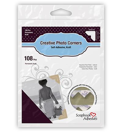 Photo Corners - Kraft - Permanent Adhesive