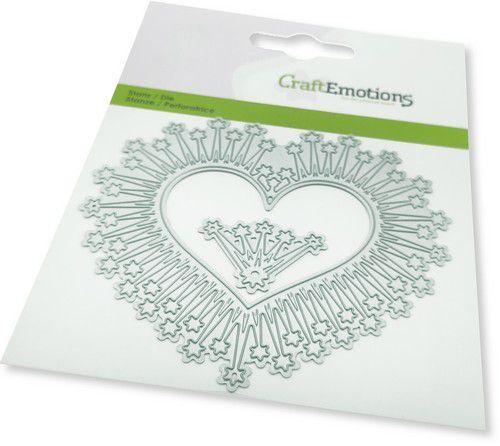 CraftEmotions Die - border hart magic stars Card 11x9cm -cm -cm (08-21)