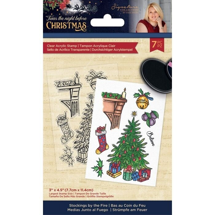 Sara Signature - 'Twas the Night Before Christmas - Clearstamp - Stockings by the Fire