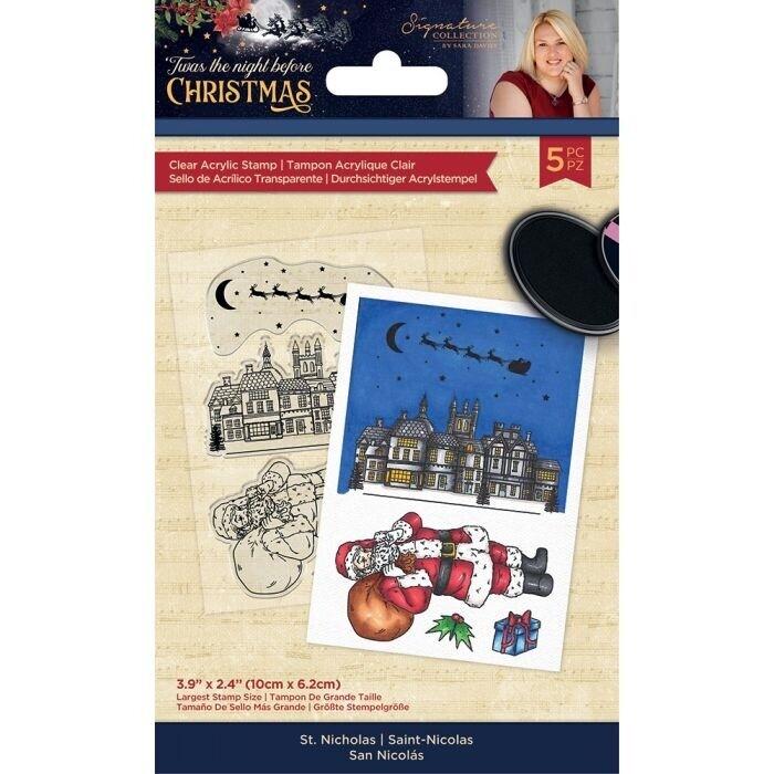 Sara Signature - 'Twas the Night Before Christmas - Clearstamp - St. Nicholas
