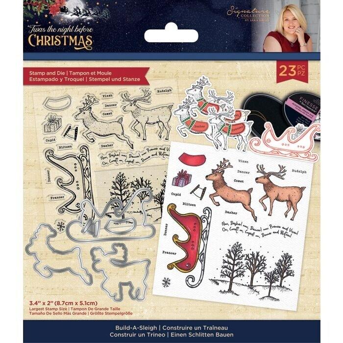 Sara Signature - 'Twas the Night Before Christmas - Stempel&snijmal - Build-A-Sleigh
