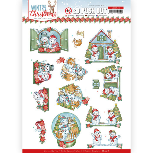 3D Push Out - Yvonne Creations - Wintry Christmas - Christmas Home