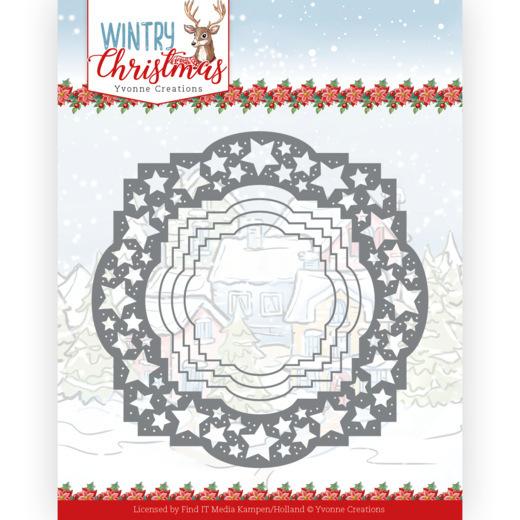 Dies - Yvonne Creations - Wintery Christmas - Stars Frame