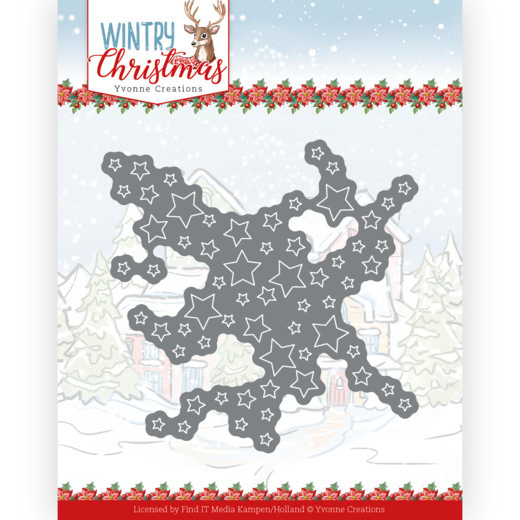 Dies - Yvonne Creations - Wintery Christmas - Cut out Stars