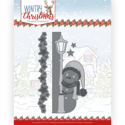 Dies - Yvonne Creations - Wintery Christmas - Peek a Boo Snowman
