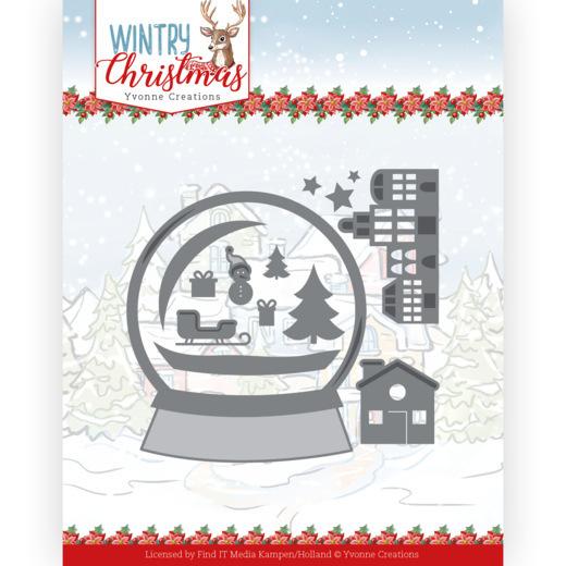 Dies - Yvonne Creations - Wintery Christmas - Snowman in snow globe