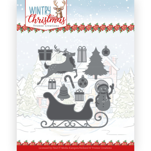 Dies - Yvonne Creations - Wintery Christmas - Ho, ho, ho snowman
