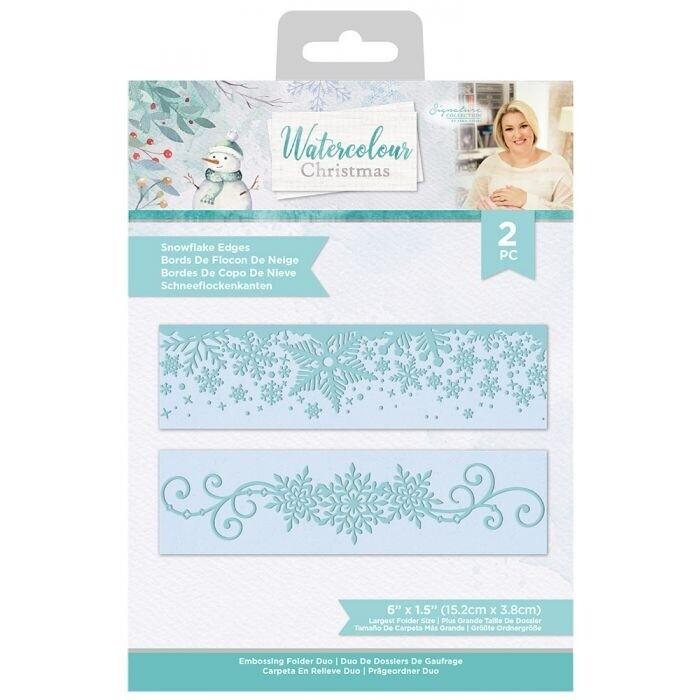 Sara Signature - Watercolour Christmas - Embossingfolder Set - Snowflake Edges