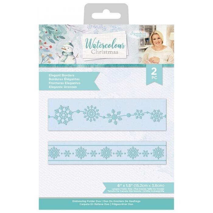 Sara Signature - Watercolour Christmas - Embossingfolder Set - Elegant Borders