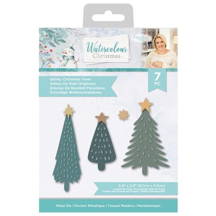 Sara Signature - Watercolour Christmas - Snijmal - Quirky Christmas Trees