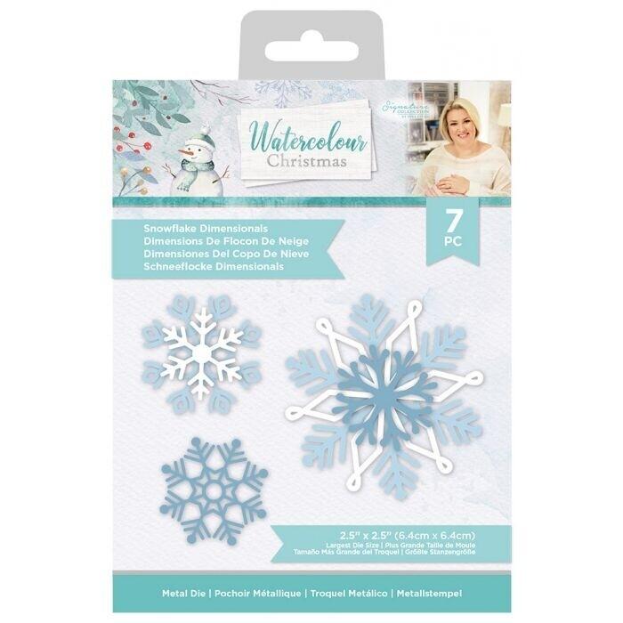 Sara Signature - Watercolour Christmas - Snijmal - Snowflake Dimensionals