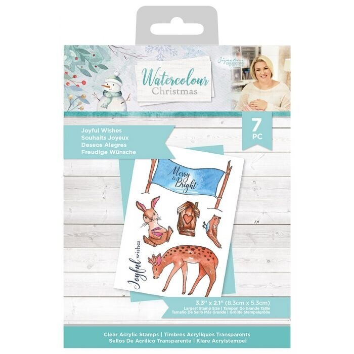 Sara Signature - Watercolour Christmas - Clearstamp - Joyful Wishes