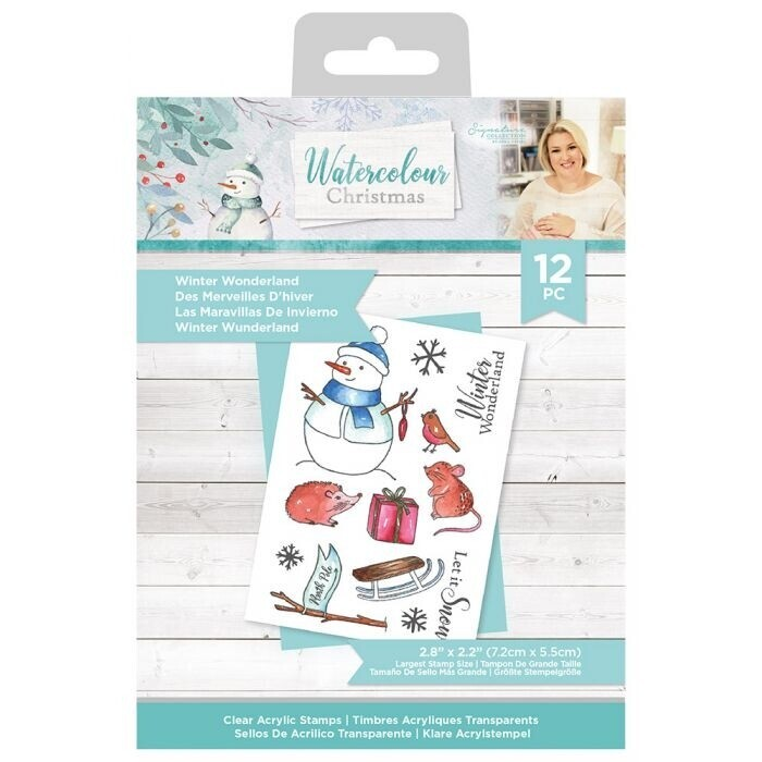 Sara Signature - Watercolour Christmas - Clearstamp - Winter Wonderland
