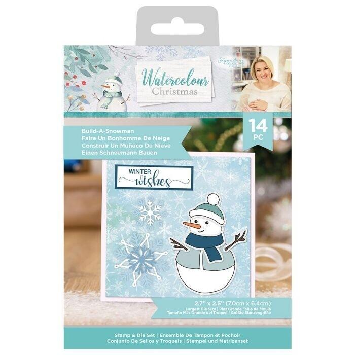 Sara Signature - Watercolour Christmas - Stempel&snijmal - Build-A-Snowman
