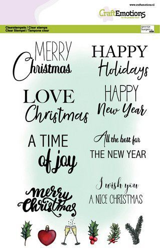 CraftEmotions clearstamps A5 - Text Christmas cards (Eng) GB Dimensional stamp (09-21)