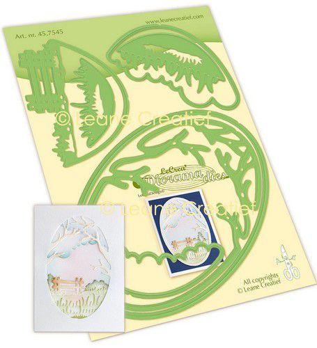 LeCrea - Leabilitie® Diorama landschap snij en embossing mal 45.7545 (09-21)