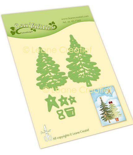 LeCrea - Leabilitie® Kerstbomen snij en embossing mal 45.7569 (09-21)