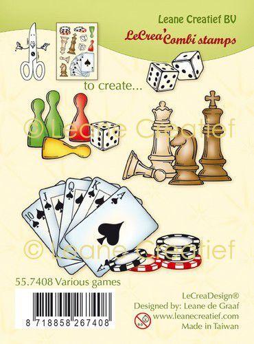 LeCrea - Clear stamp combi  Diverse spelen 55.7408 (09-21)