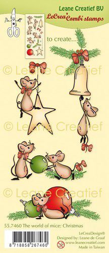 LeCrea - Clear stamp combi  The world of mice Kerst 55.7460 (09-21)