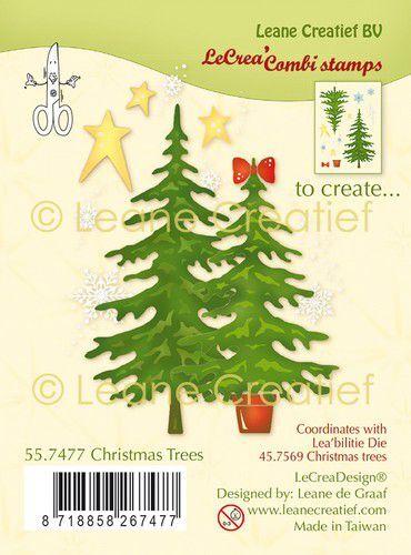 LeCrea - Clear stamp combi  Kerstbomen 55.7477 (09-21)