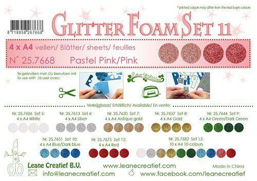 LeCrea - Glitter foam 4 vel A4 - Roze 25.7668 (09-21)