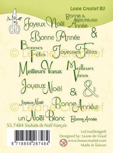 LeCrea - Clear stamp combi  Kerst wensen (FR) 55.7484 (09-21)