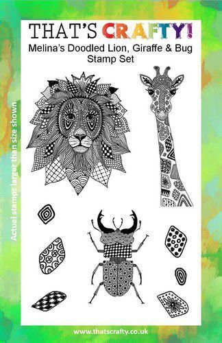 That's Crafty! Clearstamp A5 - Melina's Leeuw, Giraffe, Kever 107112 (09-21)