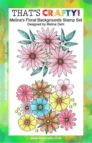 That's Crafty! Clearstamp A5 - Melina's Bloemen achtergrond 107113 (09-21)