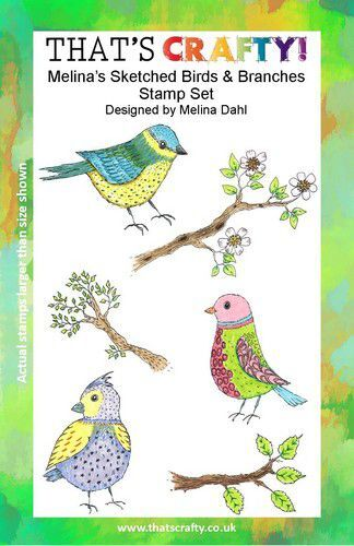 That's Crafty! Clearstamp A5 - Melina's Vogels en Takken 107114 (09-21)