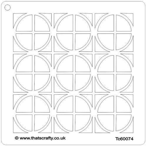 That's Crafty! Mask stencil - Vierkanten en cirkels 107116 15x15cm (09-21)