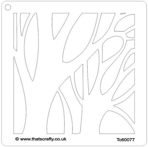 That's Crafty! Mask stencil - Winter boom 107119 15x15cm (09-21)