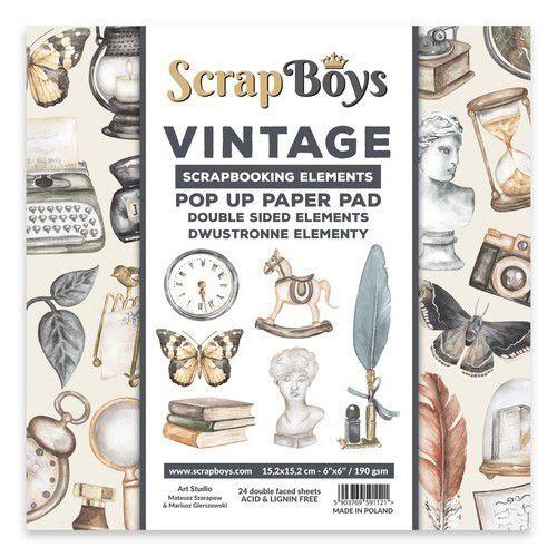 POP UP Paper Pad double sided elements - Vintage POPVI-03 190gr 15,2x15,2cm (09-21)