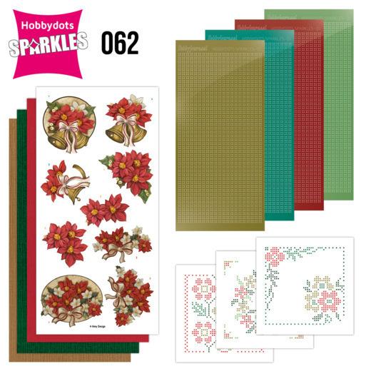 Sparkles Set 62 - Amy Design - Poinsettia