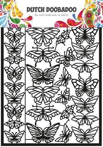 Dutch Doobadoo Dutch Paper Art A4 vlinders 472.950.010 297x210mm (09-21)