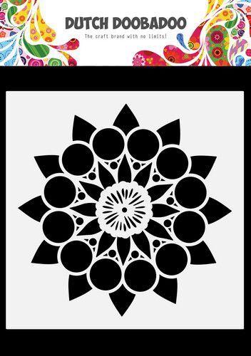 Dutch Doobadoo Dutch Mask Art Doodle Mandala 2 470.784.035 148x148mm (09-21)