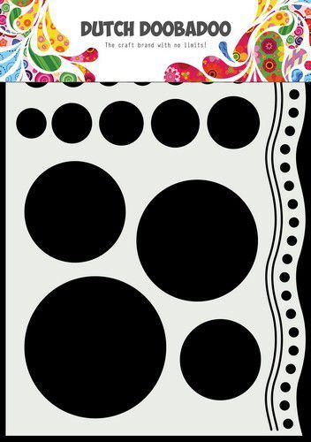 Dutch Doobadoo Mask Art A5 Doodle cirkels en rand 470.784.033 210x148mm (09-21)