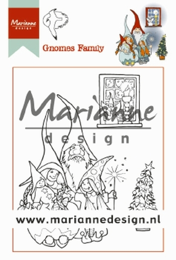 HT1650 MARIANNE D CLEAR STAMPS HETTYS GNOMES FAMILIE
