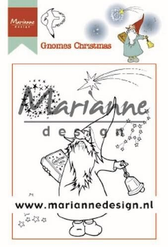 Marianne D Clear Stamps Hetty's Gnomes Kerst HT1649 90x110 mm