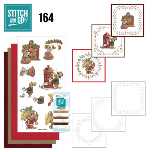 Stitch and Do 164 -Yvonne Creations- Have a Mice Christmas