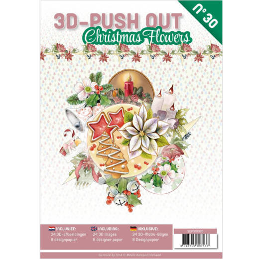3D Push Out book 30 Christmas Flowers