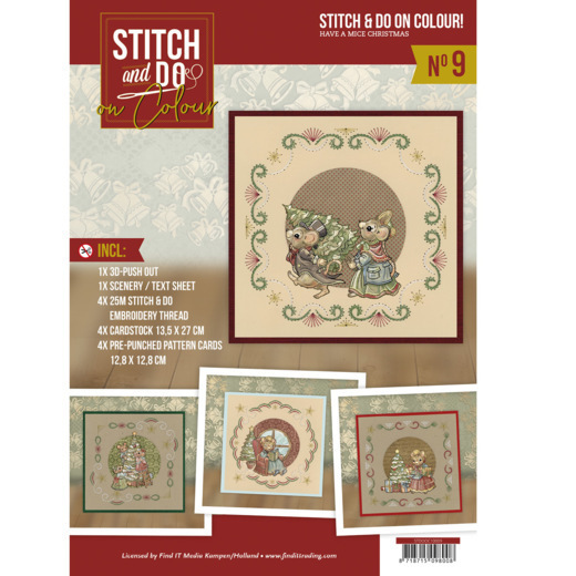 Stitch and Do on Colour 009 - Yvonne Creations - Have a Mice Christmas