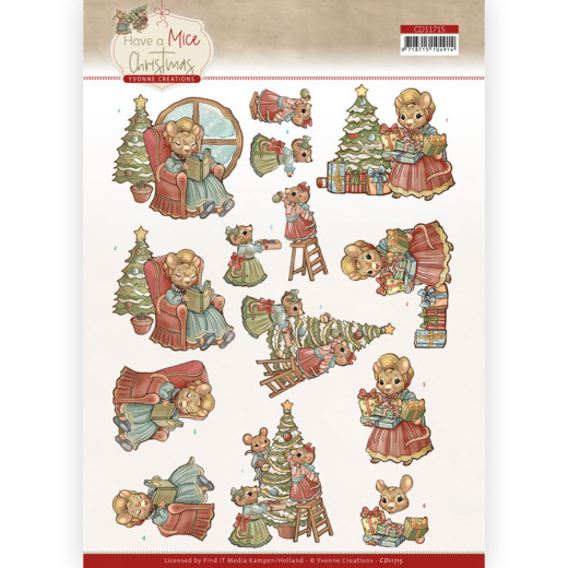 3D Cutting Sheet - Yvonne Creations - Have a Mice Christmas - Decorating