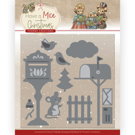 Dies - Yvonne Creations - Have a Mice Christmas - Fire Department