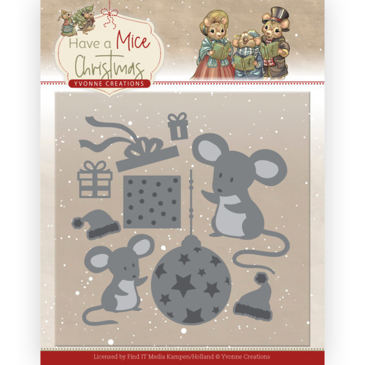 Dies - Yvonne Creations - Have a Mice Christmas - Gardening