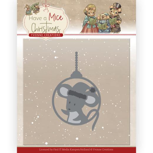 Dies - Yvonne Creations - Have a Mice Christmas - wheelbarrow