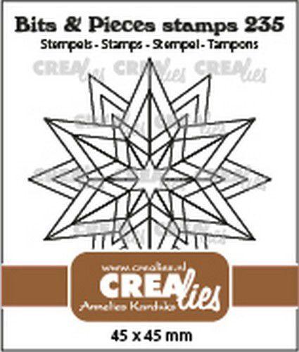 Crealies Clearstamp Bits & Pieces Rozet Starlight CLBP235 45x45mm (09-21)