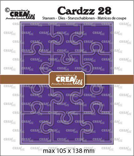 Crealies Cardzz no 28 Puzzel CLCZ28 max 105x138mm (09-21)